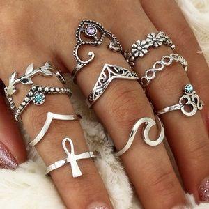 🆕10 Piece Ring Set